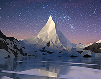 Mountain in low-poly