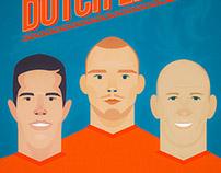 Worldcup 2014 Dutch Lions: Van Persie, Sneijder, Robben