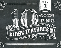 10 Stone Textures - Vol 1 + Free Chalkboard Texture!