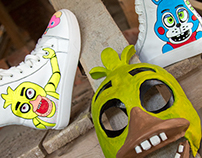 Five nights at Freddy's Easy Edition Custom Kicks