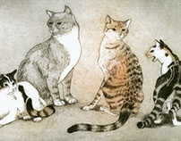 Etchings: Cats