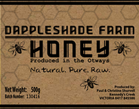 Dappleshade Farm Honey Label