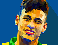 Neymar-low polygon illustration- World cup 2014