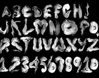 Smoke Alphabet Typographic Experiment
