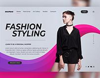 Fashion styling Landing Page