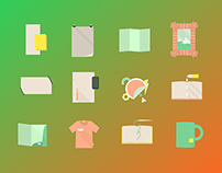 Printing – Flat Style Icons