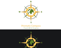 Logo Design for Prismatic Compass traveling Agency