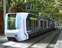 concept low-floor  automatic tram (student project)