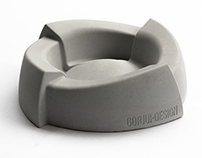 Concrete Ashtray by GorjupDesign