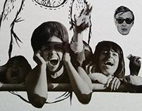 Collage Illustration // Screamfest