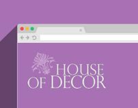 House of Decor Website