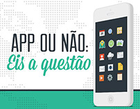 Infográfico: app ou não