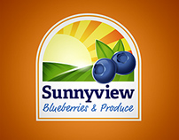 Sunnyview Blueberries and Produce Logo Design