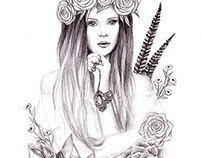 Boho Beauty // Illustration