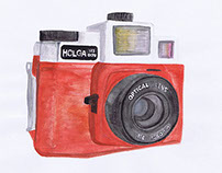 Camera Watercolour | ILLUSTRATIONS
