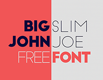 Big John / Slim Joe -Typeface