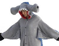 Hammerhead shark animal onesies
