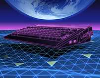 TRON inspired computer landscape