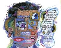 Illustration :: Magazine works crayon ,watercolor