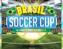 Brazil Soccer Cup 2014 Flyer Template