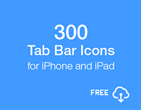 300 Tab Bar Icons for iPhone and iPad