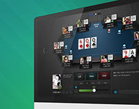 Poker Design Concept for Desktop and iPad