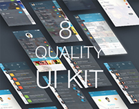 iOS 8 Quality - Mobile UI Kit - Download PSD