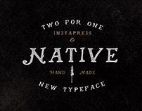 Native Font + Instapress