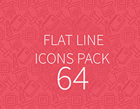 Flat line icons pack