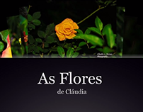 As flores de Cláudia