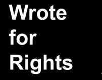 Amnesty International: I Wrote for Rights Board