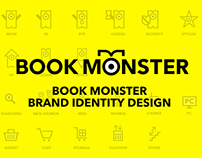 BOOK MONSTER Brand Identity Design 2014