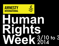 Amnesty International: Human Rights Week Large Banner