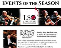 Lynchburg Symphony Orchestra Ad
