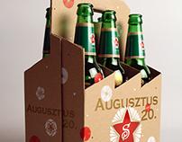 Soproni Beer Label Design