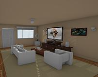 3D interior semi textured