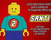 Invitación Cumpleaños Lego
