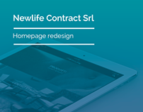 Newlife Contract Srl Homepage Design