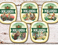 "labels for beer ""Hollandia"""