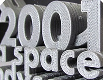 2001: a space odyssey - 3D Type for 3D Print