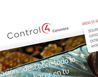 Control 4 Colombia Web Site Design