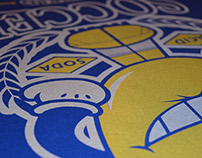 Acid Soda t-shirt design Brasil World Cup