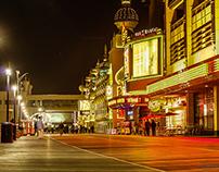 Atlantic City Boardwalk at night