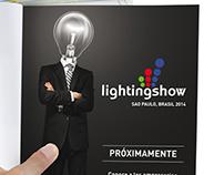 Propuestas de logotipo y aviso Lighting Show - BRASIL