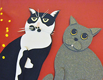 Paper art-cat
