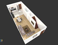 Photorealistic 3D Floor Plan Rendering Services