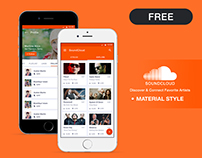 SoundCloud Redesign - Material Design Concept