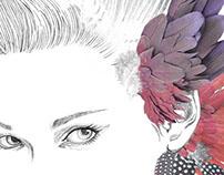 Feathery Girls - Mamalicious  // Tee Prints