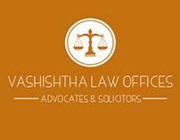 Vashishtha Law office's firm logo design