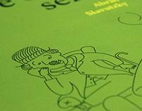 Humor é coisa séria: book cover illustration